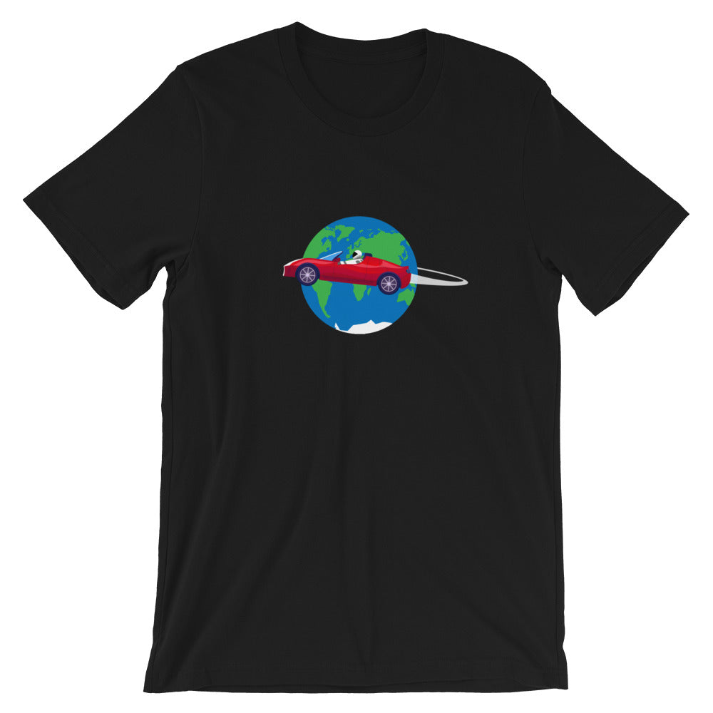 Starman Circles the Earth - Short-Sleeve Unisex T-Shirt