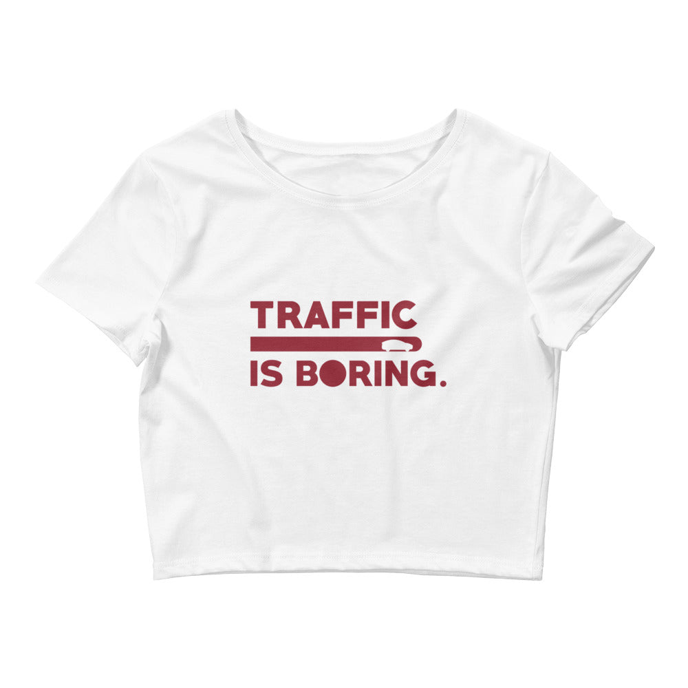Traffic is Boring - Model X  - Women's Crop Tee