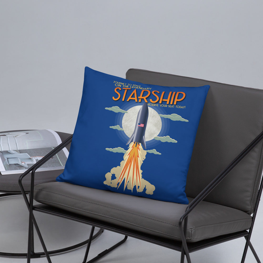 Vintage Starship - Basic Pillow