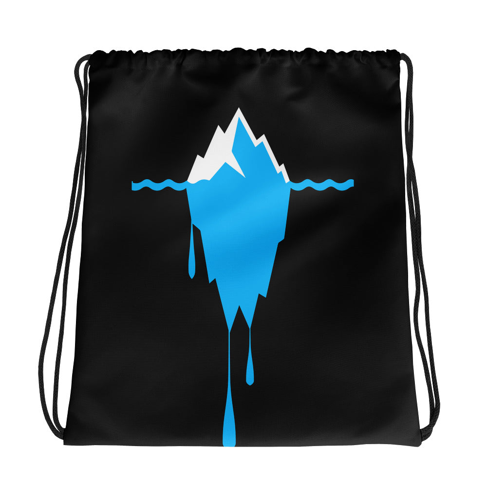 Melting Iceberg Drawstring bag