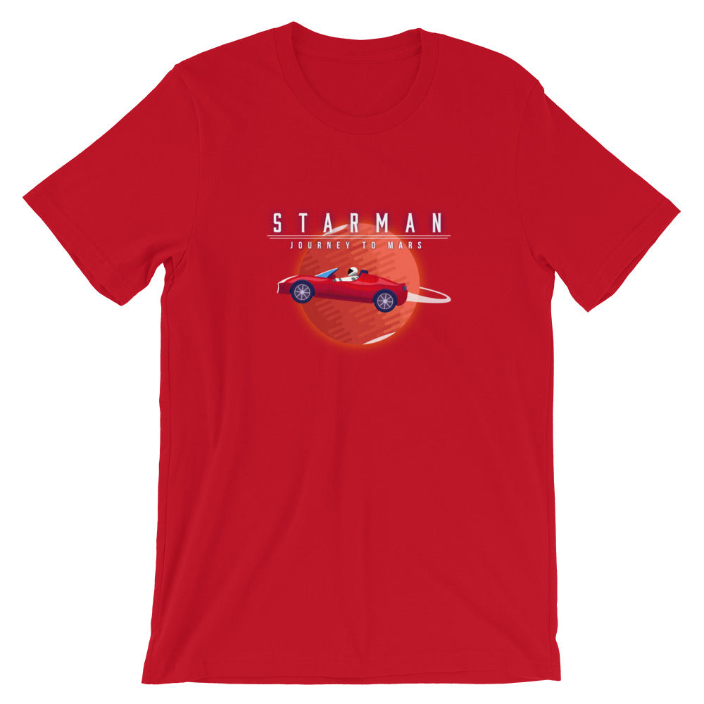 Starman - Journey to Mars - Short-Sleeve Unisex T-Shirt