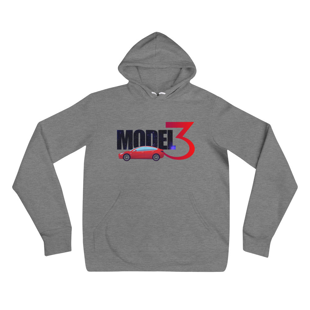 Red Model 3 Space Text - Unisex hoodie