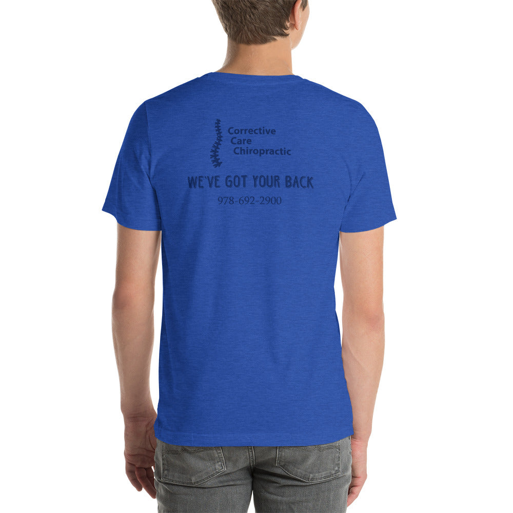 Corrective Care Chiropractic	 - Golfer Design - Short-Sleeve Unisex T-Shirt