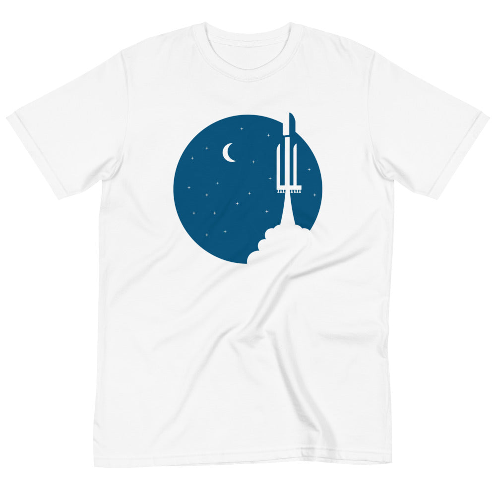 Falcon Heavy Reaches Orbit - Organic T-Shirt