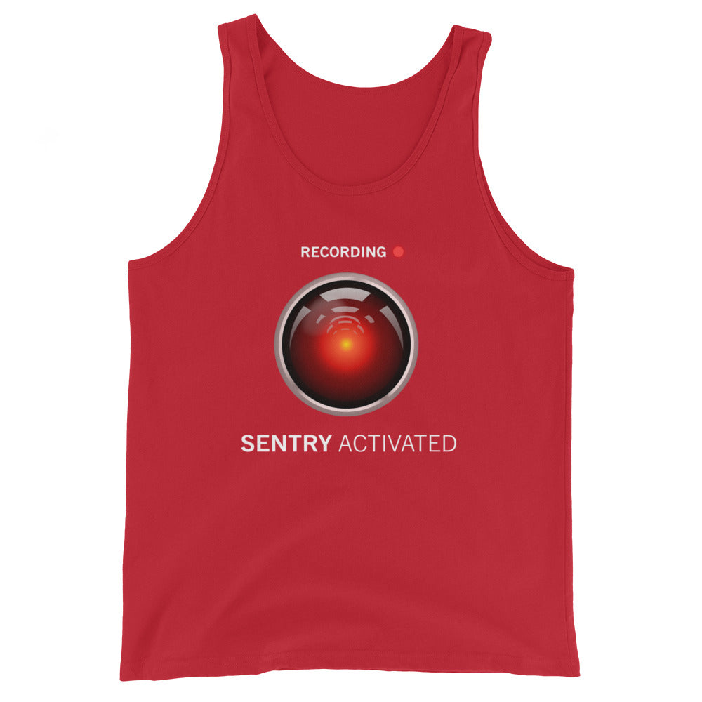 Sentry Mode Activated! Unisex Tank Top