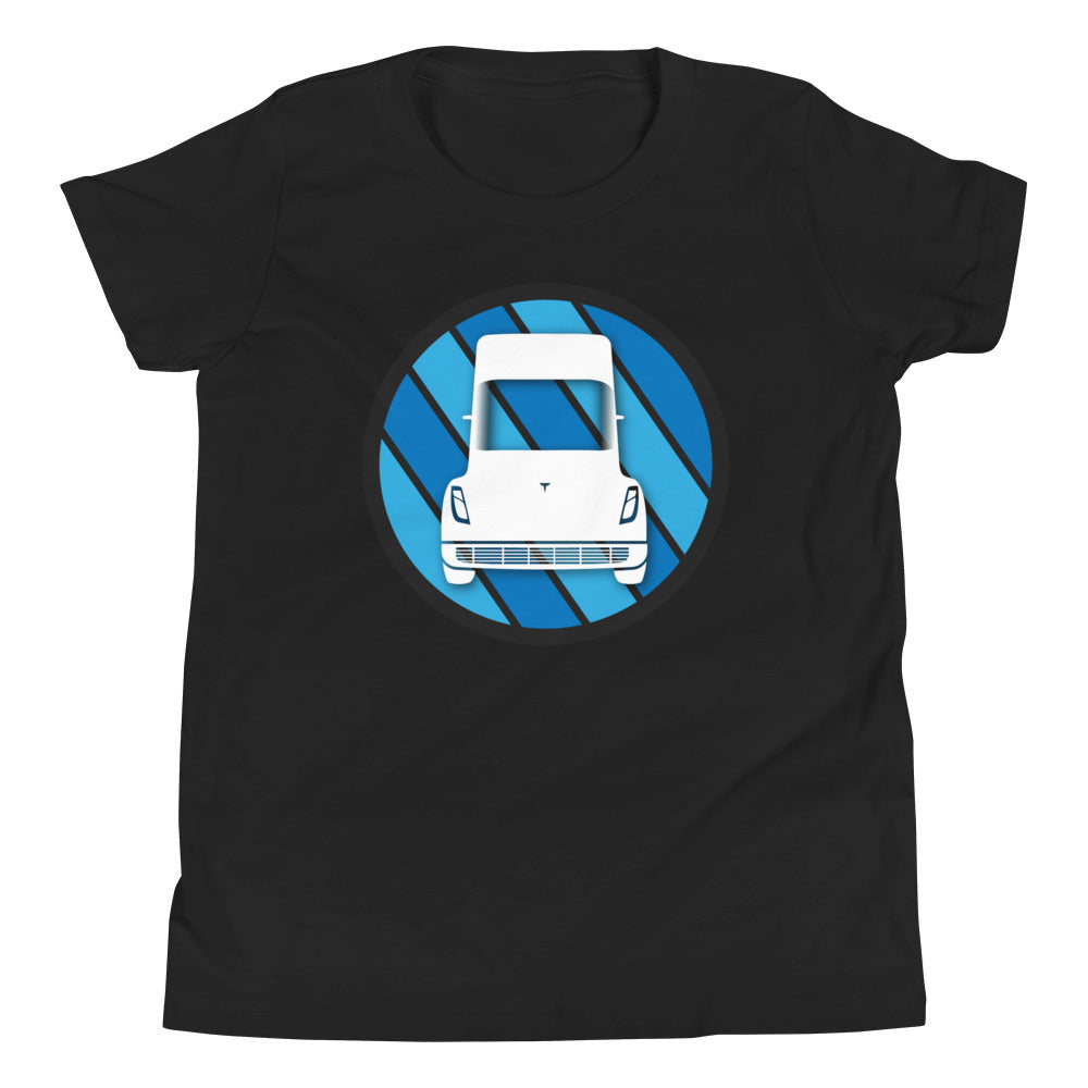 Tesla Semi Icon - Youth Short Sleeve T-Shirt