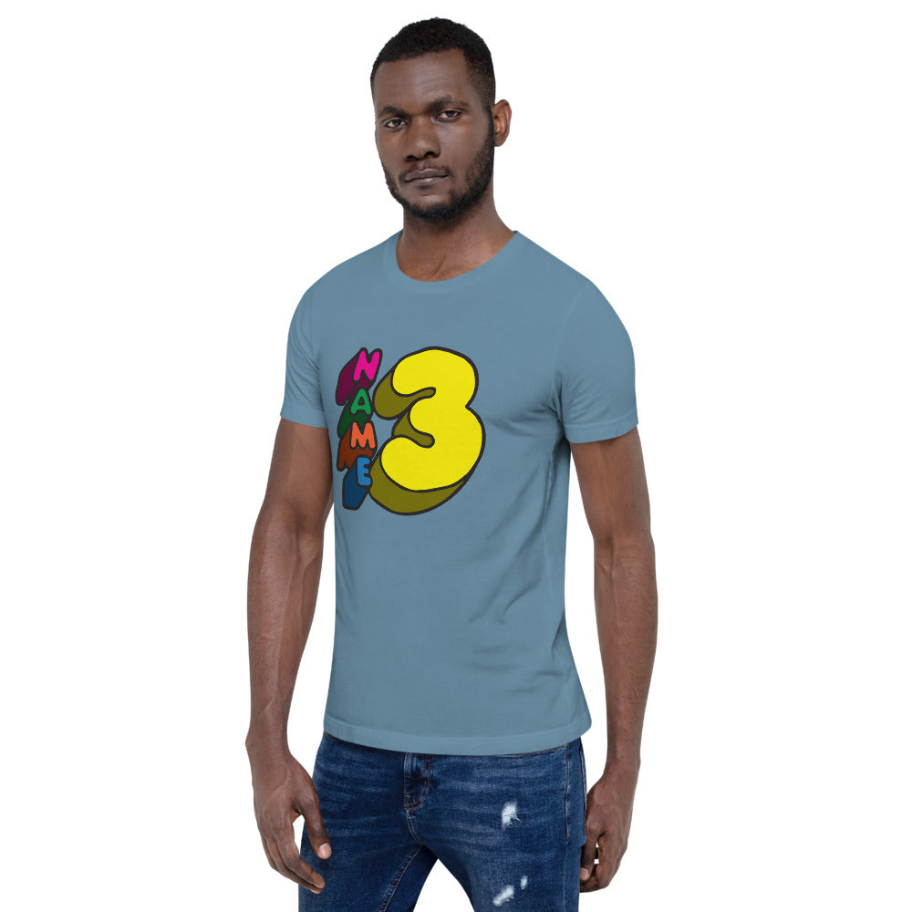 Name 3! | Zack & Aaron | Short-Sleeve Unisex T-Shirt