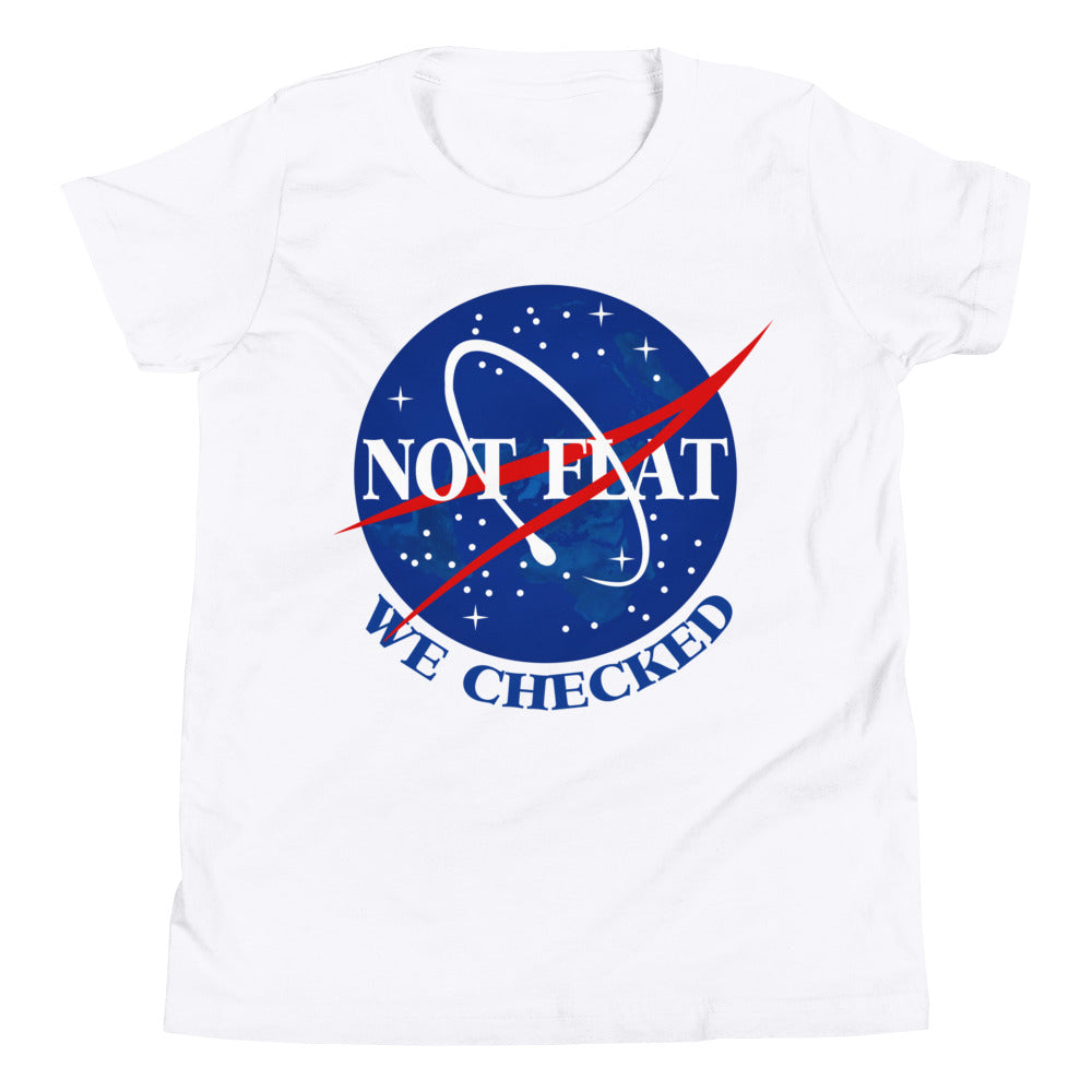 Not Flat, We Checked - Youth Short Sleeve T-Shirt