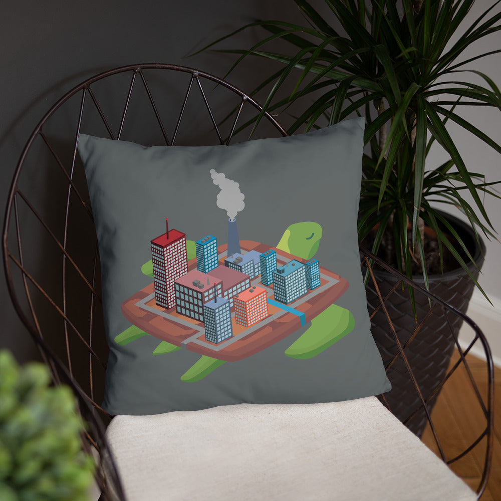 Factory Turtle Island - Basic Pillow