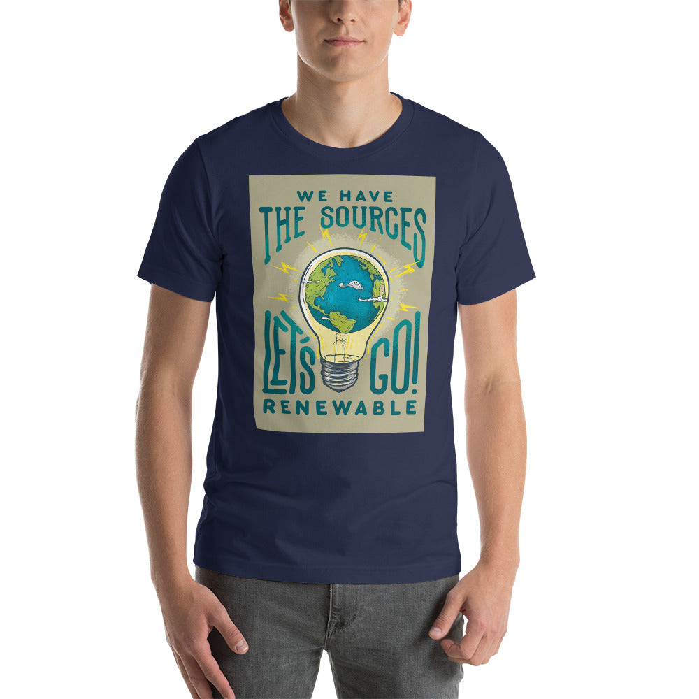 Lets Go Renewable! - Short-Sleeve Unisex T-Shirt