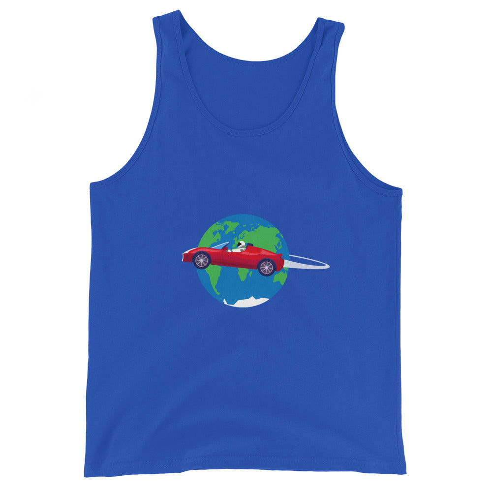 Starman Circles The Earth - Unisex  Tank Top