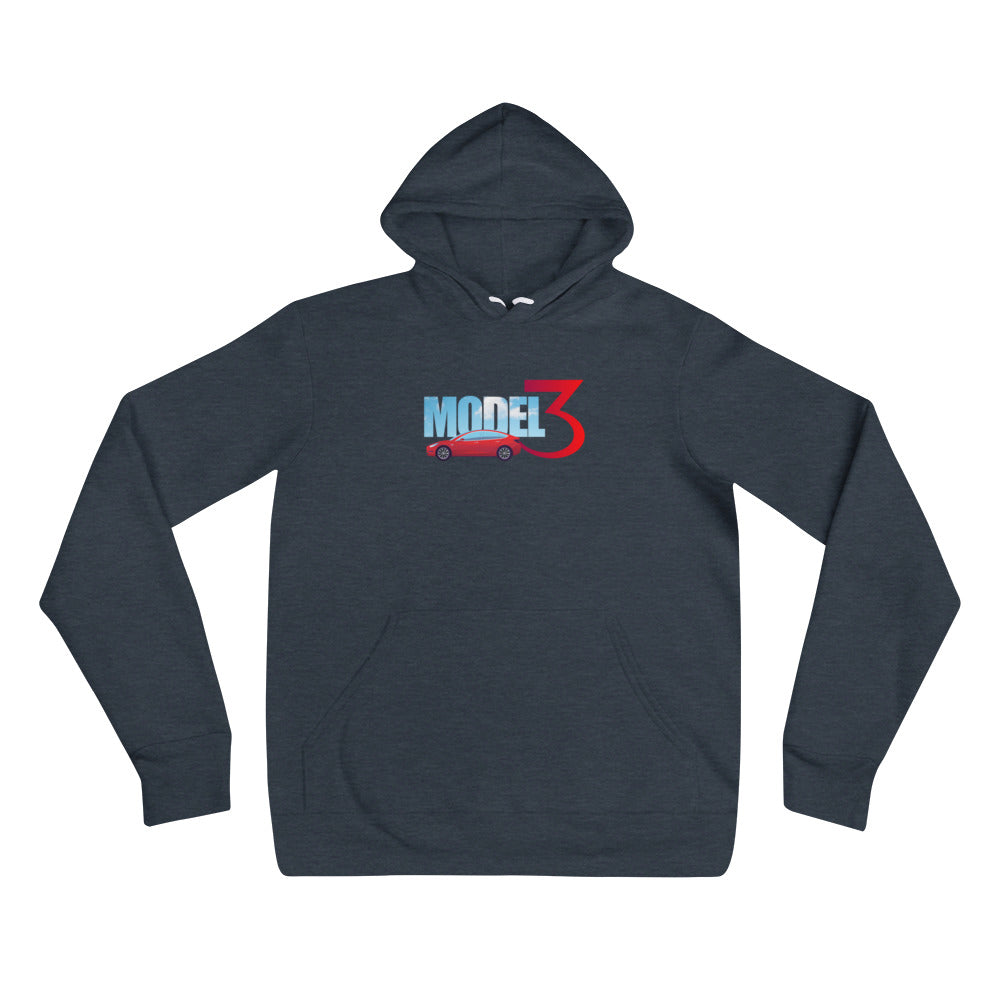 Red Model 3 Sky Text - Unisex hoodie