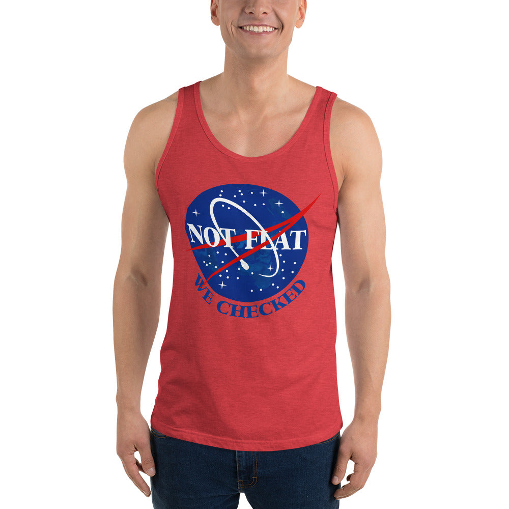Not Flat, We Checked - Unisex  Tank Top