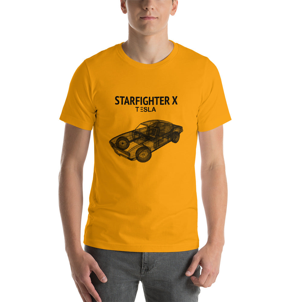 Starfighter X Lineart - Short-Sleeve Unisex T-Shirt