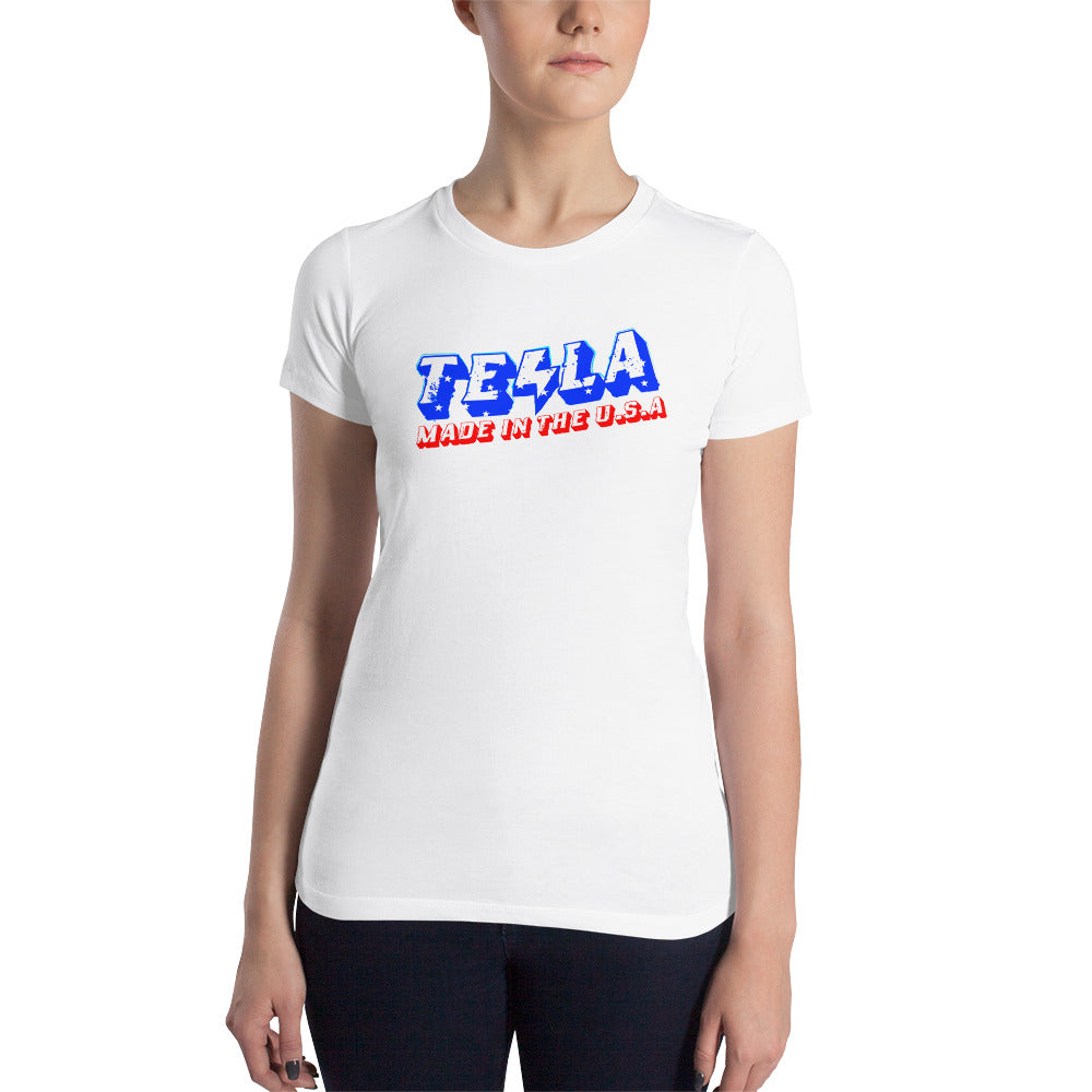 TESLA made in the USA - Women's Slim Fit T-Shirt