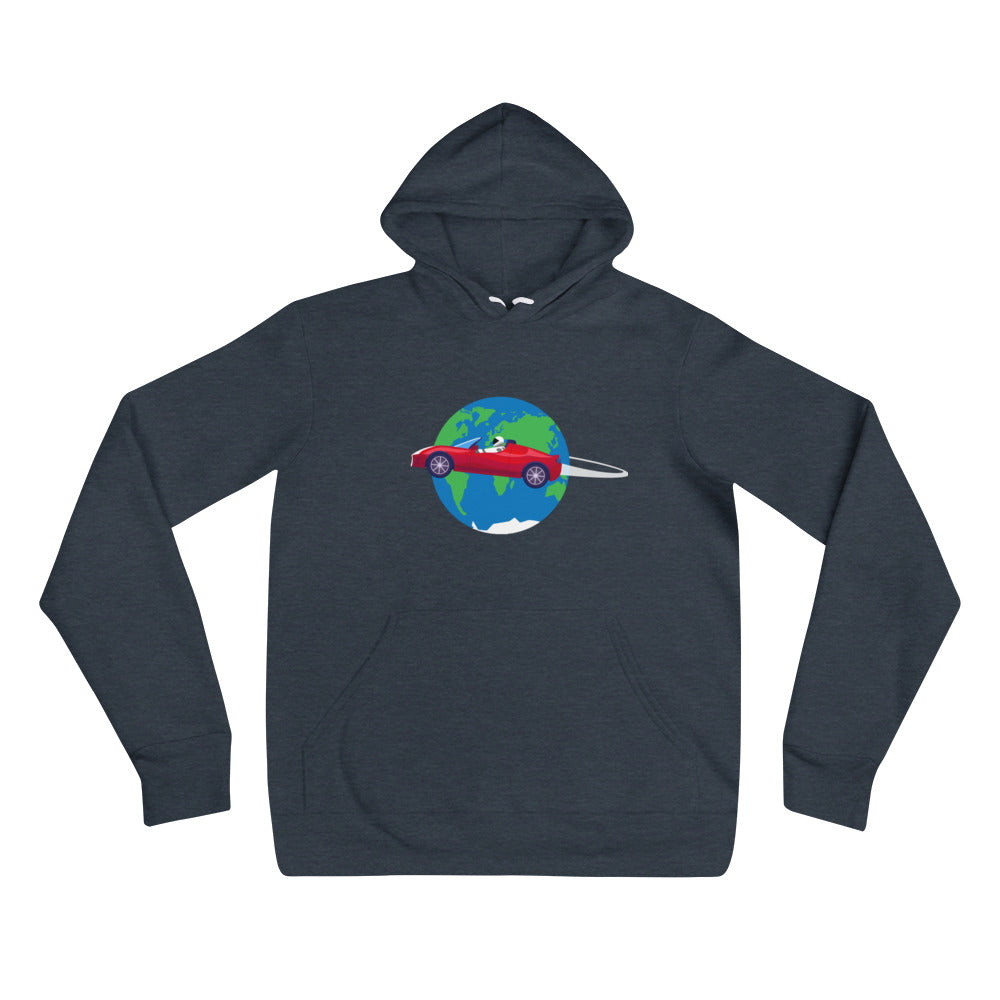 Starman Circles The Earth - Unisex hoodie