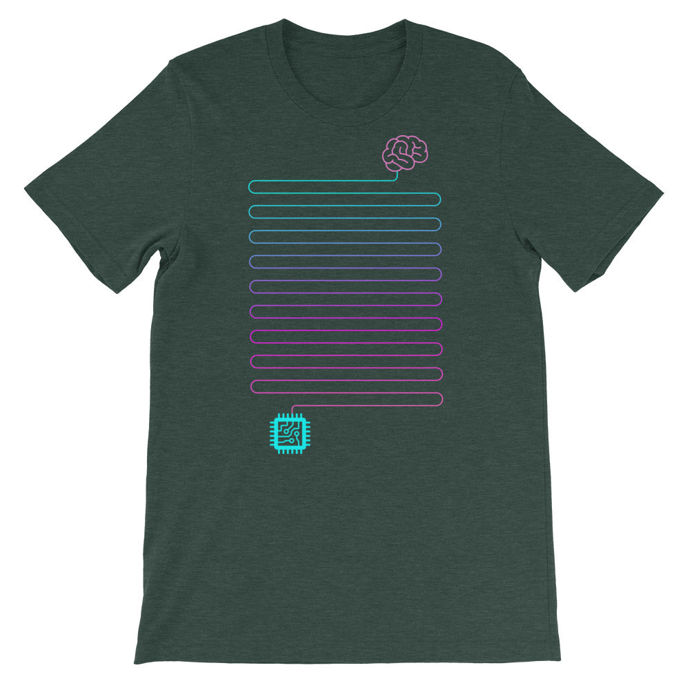 Neuro-Link Brain to Chip - Short-Sleeve Unisex T-Shirt