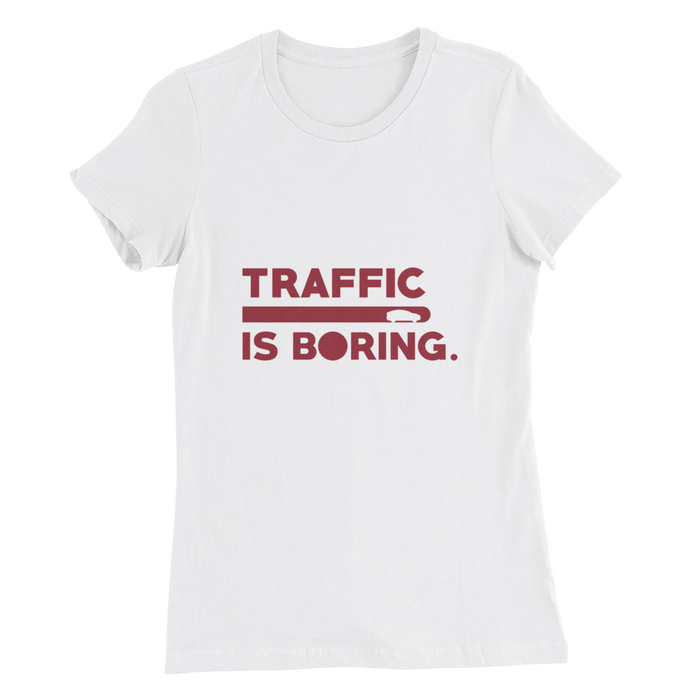 Traffic is Boring - Model X - Women's Slim Fit T-Shirt