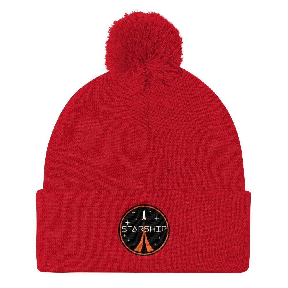 Starship Patch Design - Pom Pom Knit Cap