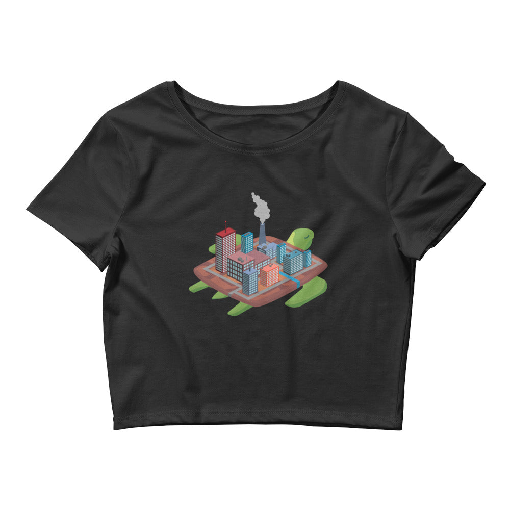 Factory Turtle Island - Women's Crop Tee