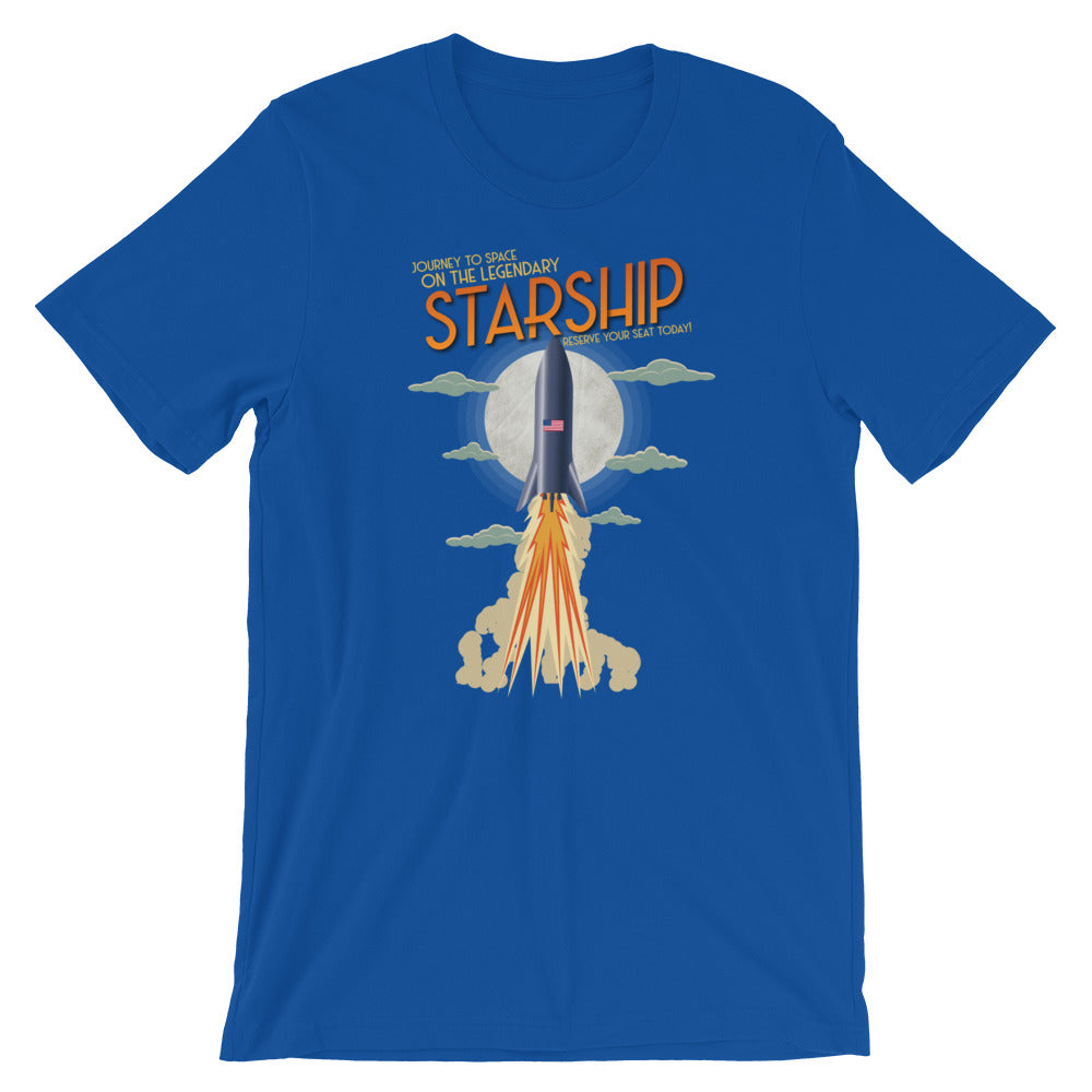 Vintage Starship - Short-Sleeve Unisex T-Shirt