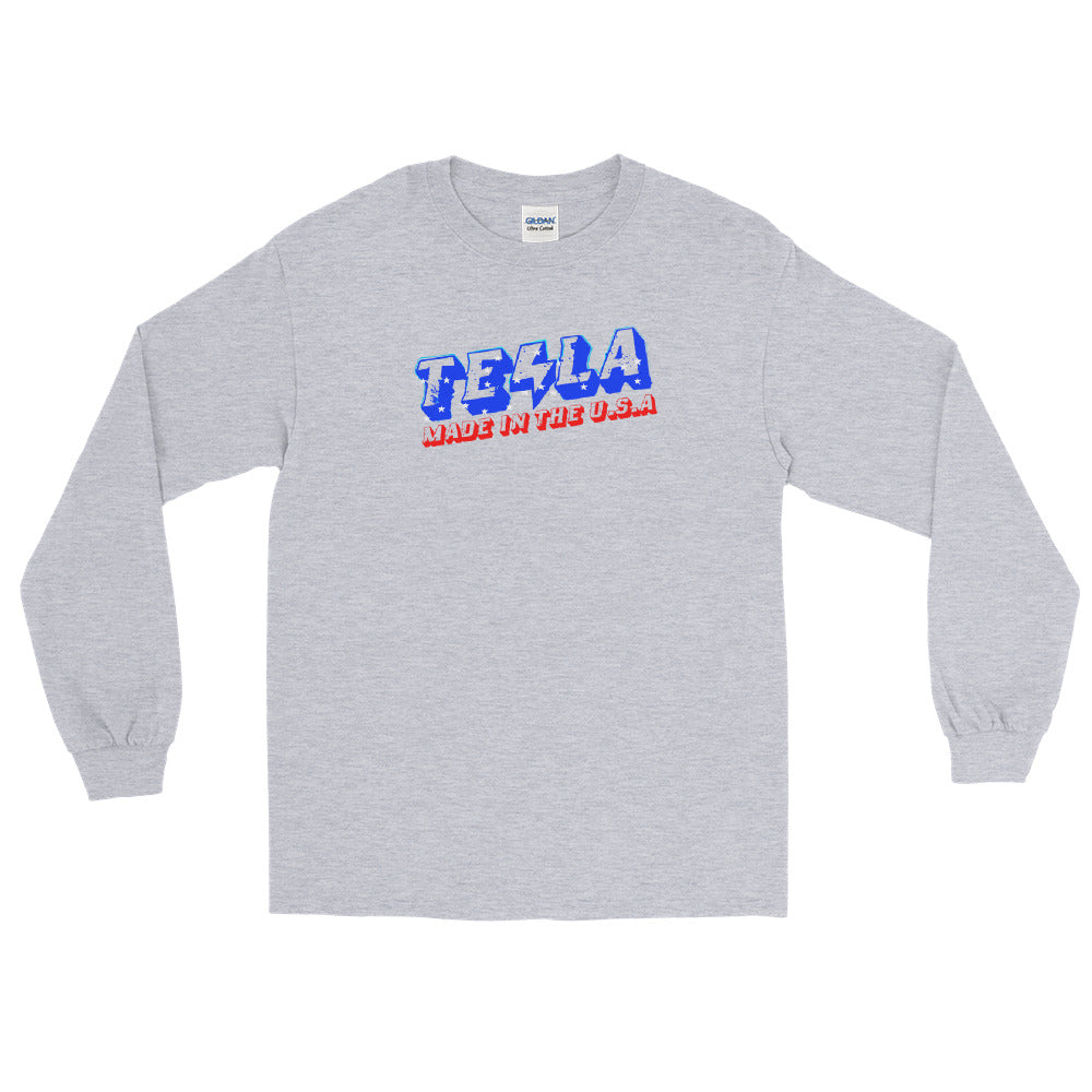 TESLA made in the USA - Long Sleeve T-Shirt