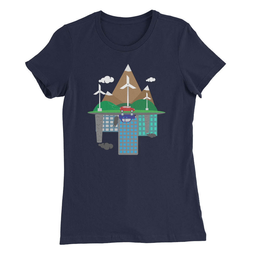 EV Reflections - Women's Slim Fit T-Shirt