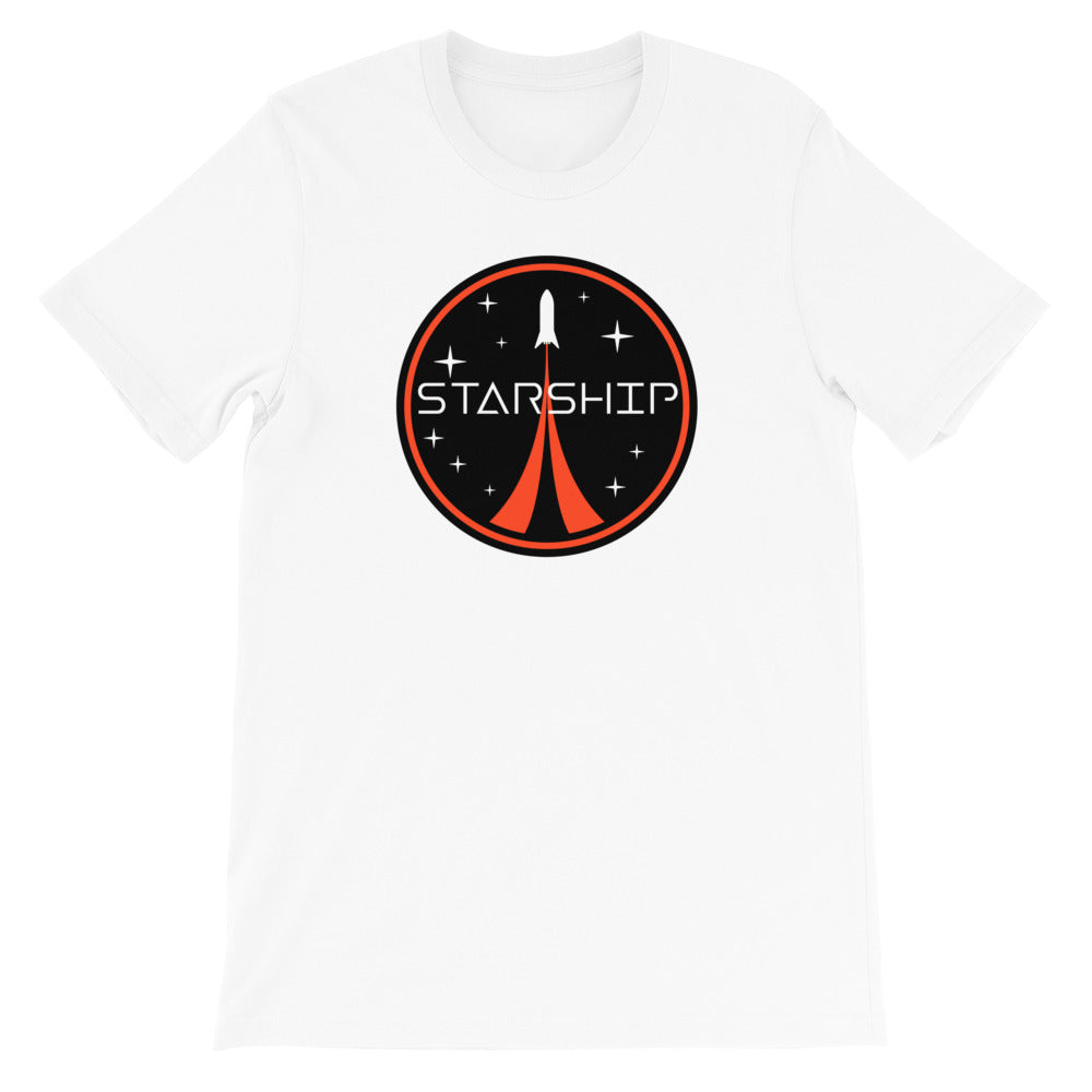 Starship Patch Design - Short-Sleeve Unisex T-Shirt