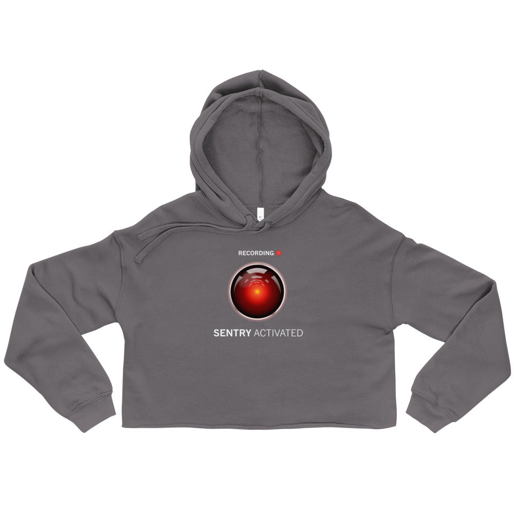 Sentry Mode Activated! - Cropped Hoodie