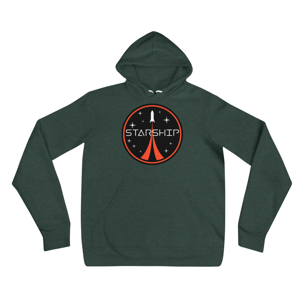 Starship Patch Design - Unisex hoodie