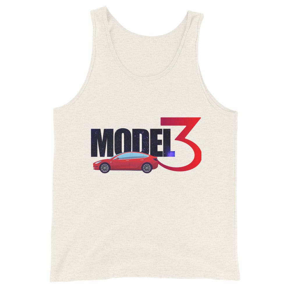 Red Model 3 Space Text - Unisex  Tank Top