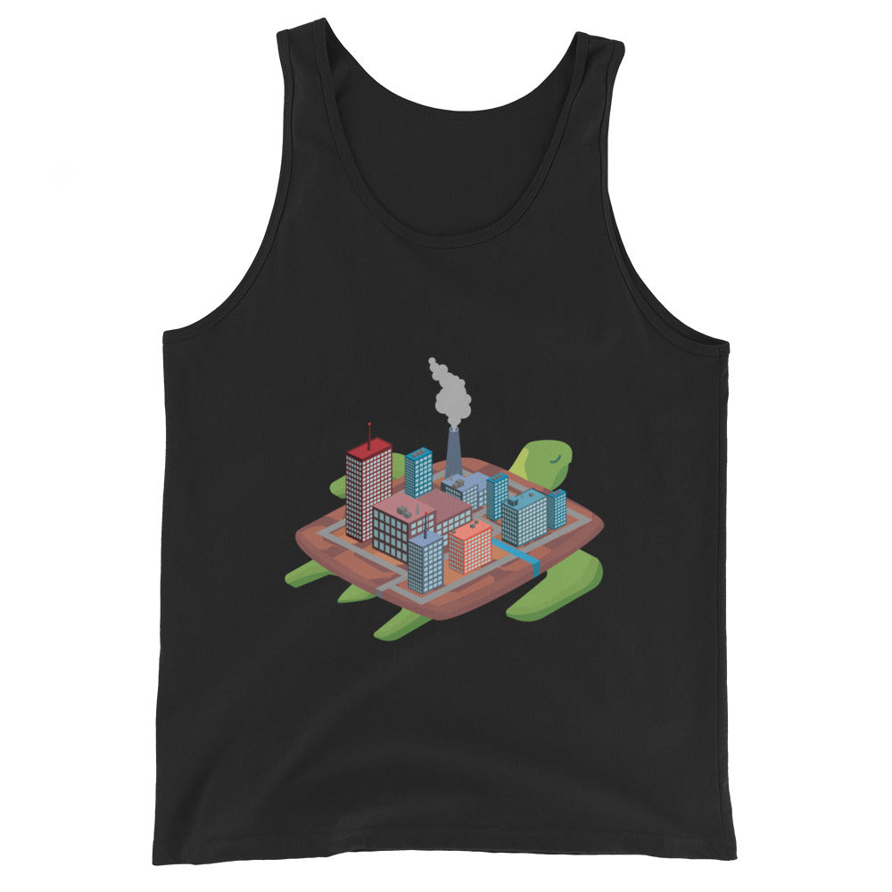 Factory Turtle Island - Unisex  Tank Top