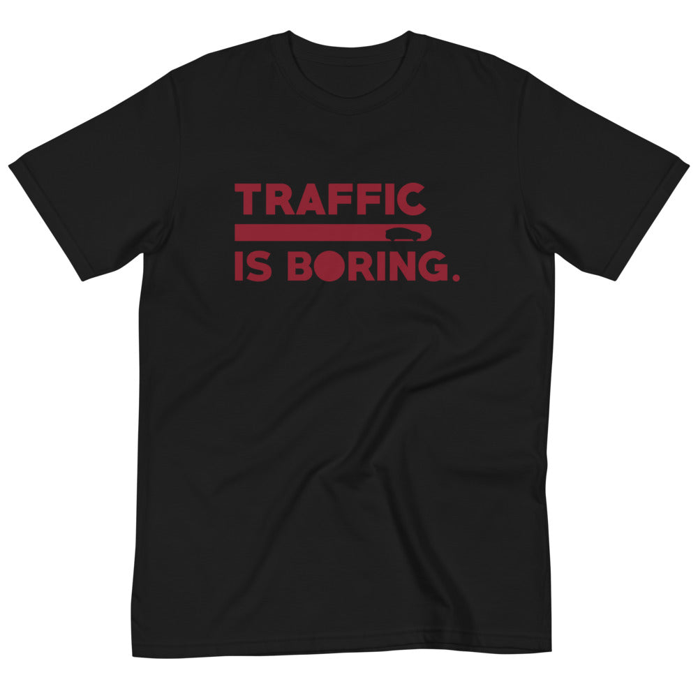 Traffic is Boring - Model X  - Organic T-Shirt