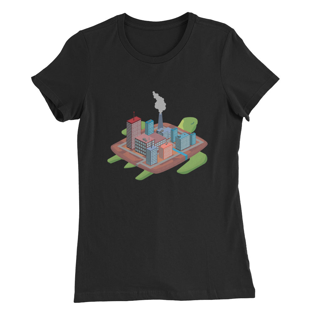 Factory Turtle Island - Women's Slim Fit T-Shirt