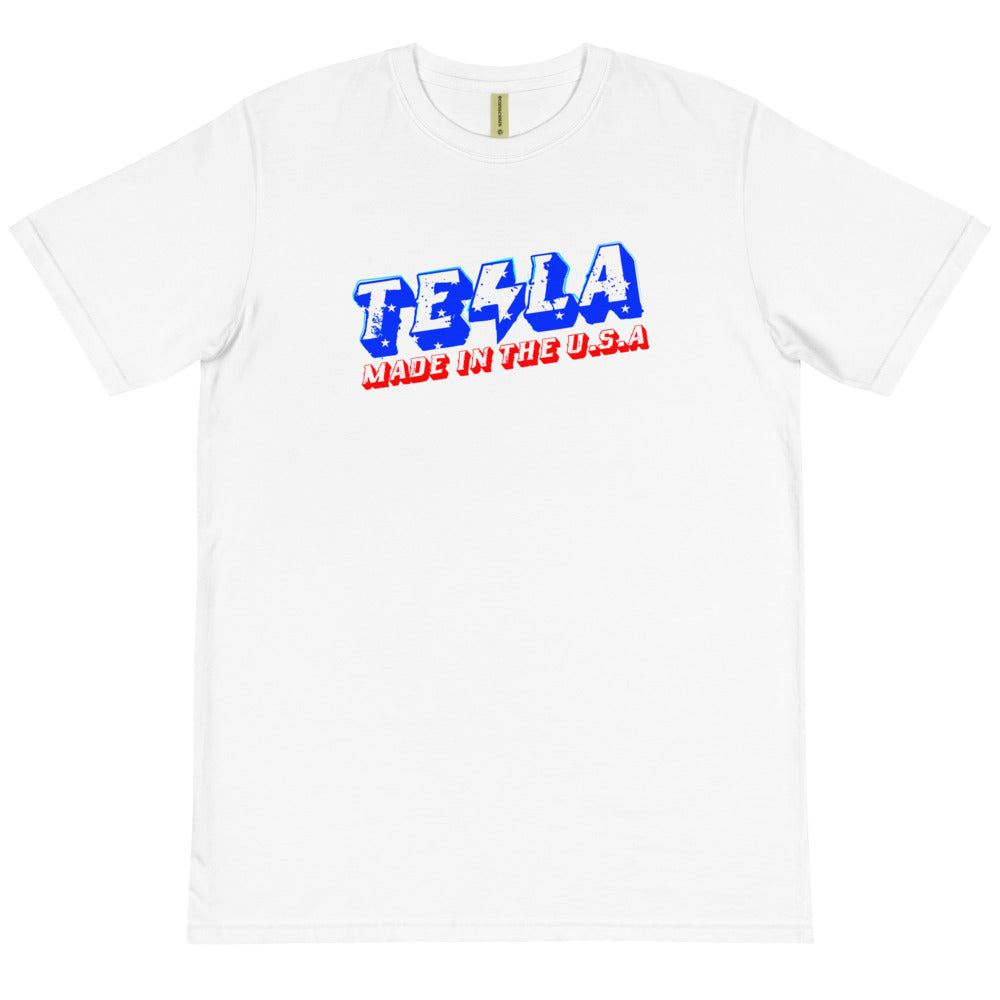 TESLA made in the USA - Organic T-Shirt