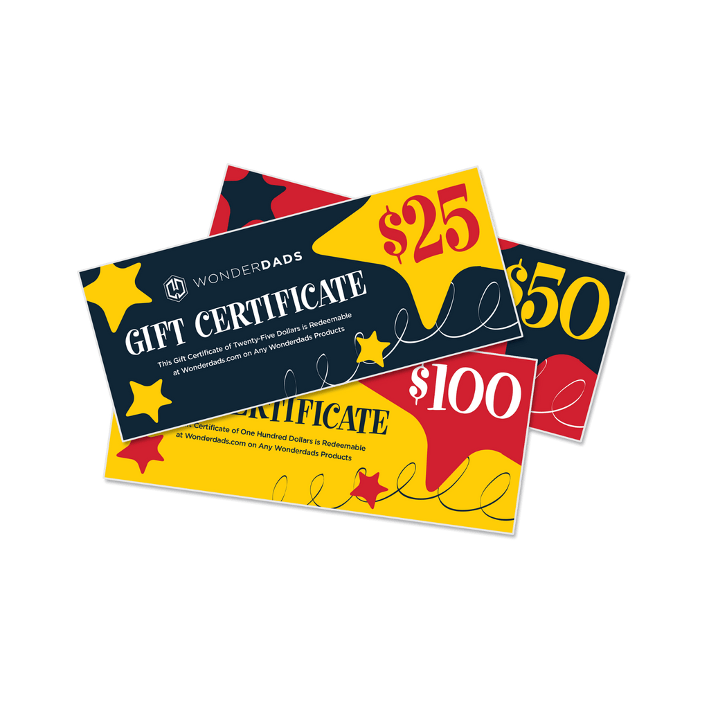 Gift Certificate for WonderDads Store - The Perfect Gift for Every Dad!
