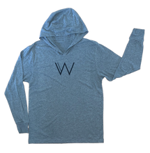 Load image into Gallery viewer, Featherweight Tri-Blend Hoodie (MEN'S) - W by Crystal White
