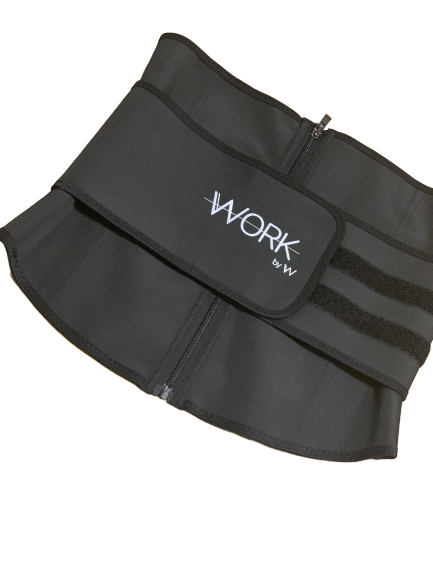 WorkBelt Waist Trainer Belt - W by Crystal White