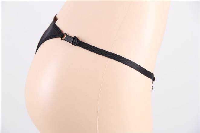 Delicate Black Floral Pattern Sexy Panties Women G String With Beading
