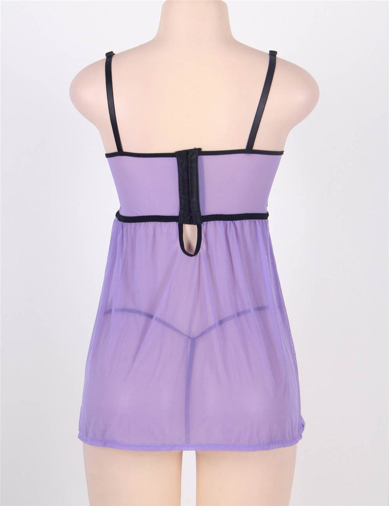 Delicate Soft and Comfy Stretchy Mesh Plus Size Babydoll Dress