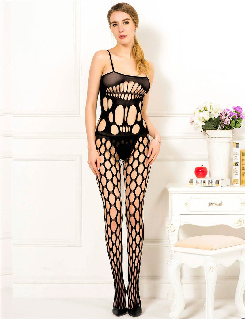 Super Stylish Hollow Out Sexy Black Fishnet Bodystocking