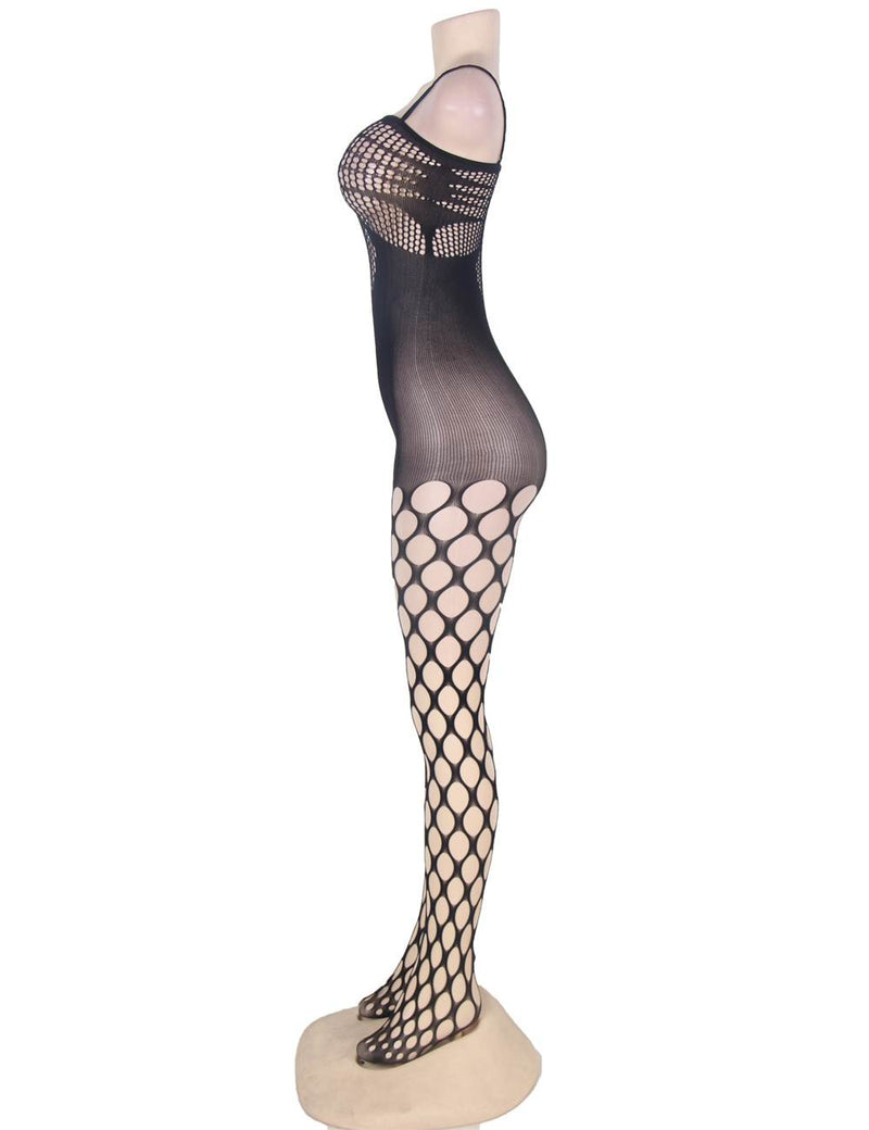 Exquisite Hollow Out Women Sexy Open Crotch Fishnet Bodystocking