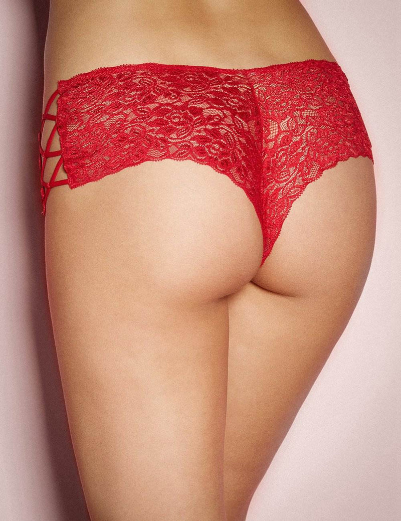 Exquisite Red Lace Transparent Stylish Women Sexy Panties