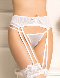 Free Shipping Delicate Sheer Mesh Plus Size Garter Belt Underwear