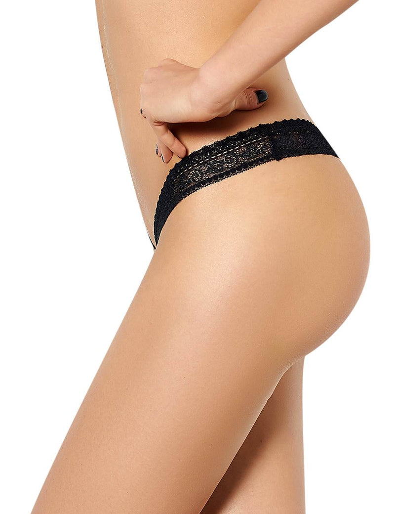 Stylish Black Lace Super Sexy Women Thongs Tangas Panties