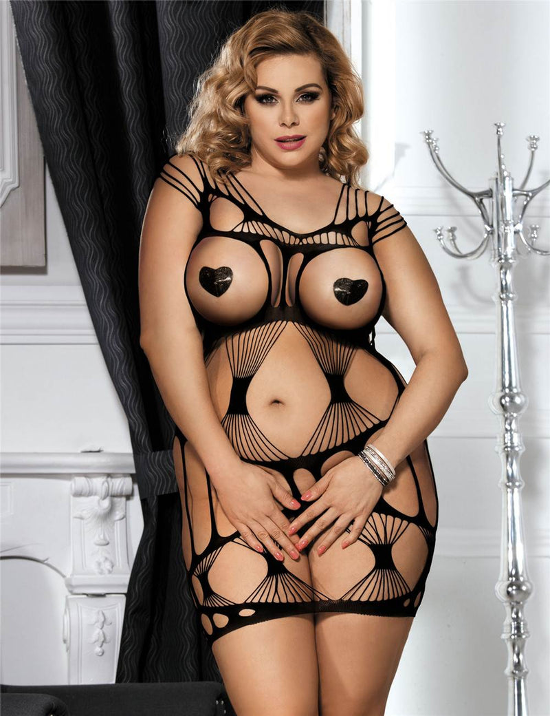 Super Sexy Hollow See Through Crotchless Body Stocking