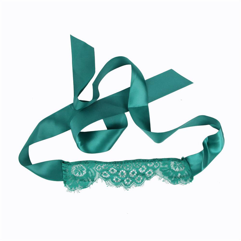 Free Shipping Plus Size Green Lace Sexy Lingerie Set With Eye Mask