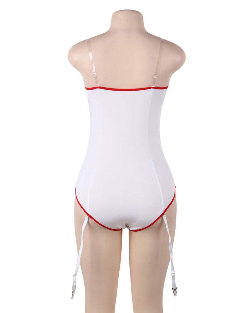 Novelty Nurse Costume Exquisite Sexy Bodysuit Teddy Lingerie