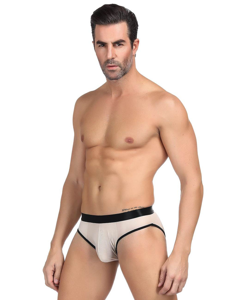 Sheer Mesh Men Briefs Open Crotch Hipster Panty For Men