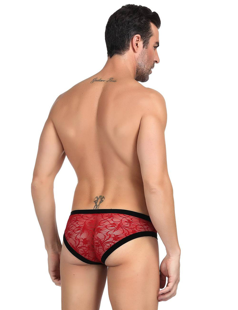 Delicate Male Underwear Red Lace Sexy Panty For Men